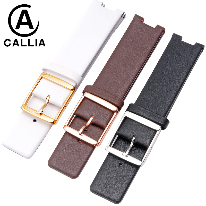 High Quality Genuine Leather Watchband For CK Watch Strap Band K1S21120 K1S211 K1S21102 KIS21100 Watch Band 20*9mm 22*10mm