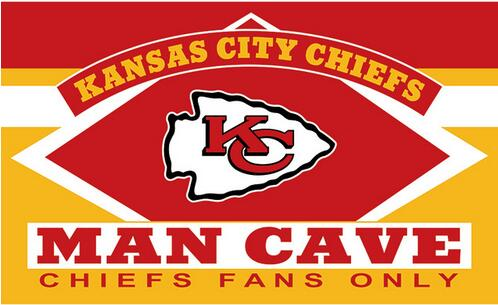 3X5FT KC kansas city chiefs man cave bayrağı Dijital baskı afiş