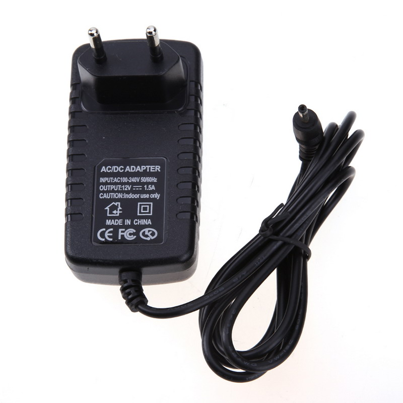 EU Standard 12V 1.5A Travel Power Wall Charger Adapter for Acer Iconia A100 A101 A200 A500 A501 Black